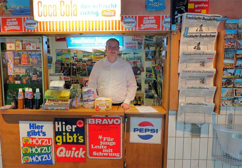 Ein Kiosk im Deutschland der 1970er Jahre.