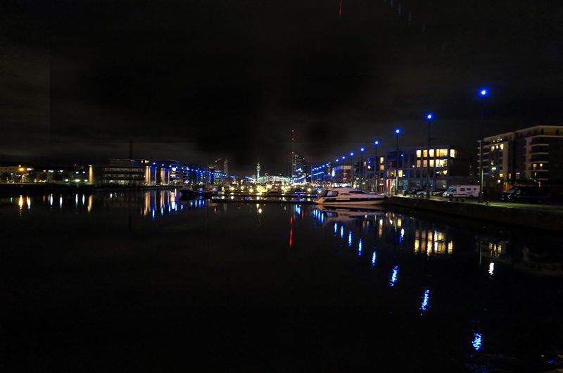 Beautiful Bremerhaven by night.