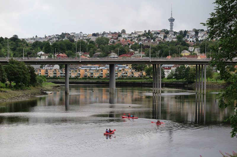 Urban Kayaking in Trondheim.