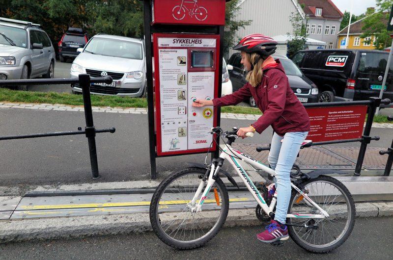 Fahrradlift Trampe in Bakklandet.