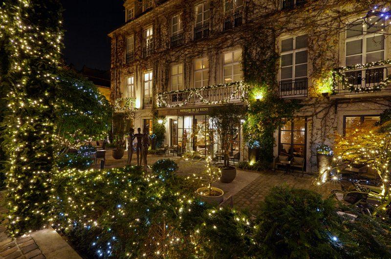 Ein Weihnachtstraum: Der Pavillon de la Reine im Advent. (Foto: SLH)