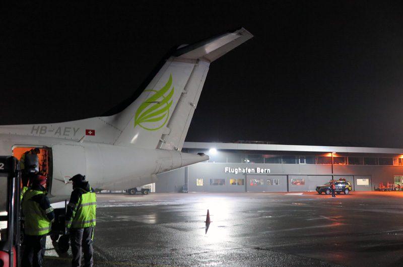 Klein, aber fein: Der Flughafen Bern-Belp.