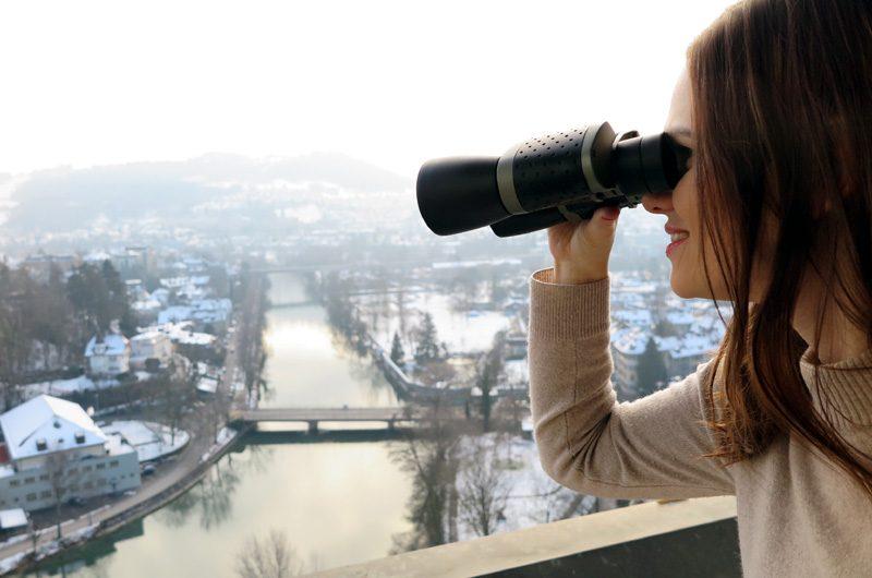 This view: Vom Zimmer aus kann man den Blick auf's Aaretal und die Berge genießen.