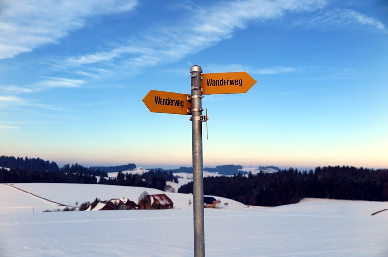 Von der Emmentaler Schaukäserei aus starten wir eine Winterwanderung.