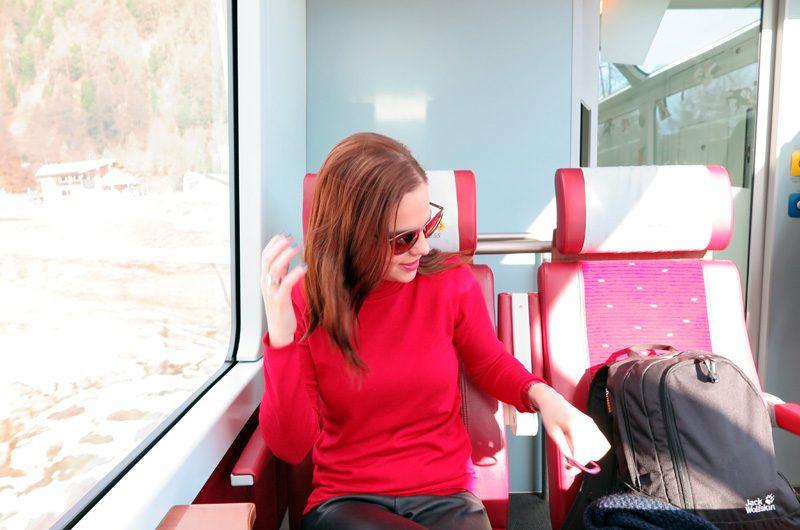 Im Glacier Express ist es richtig gemütlich.