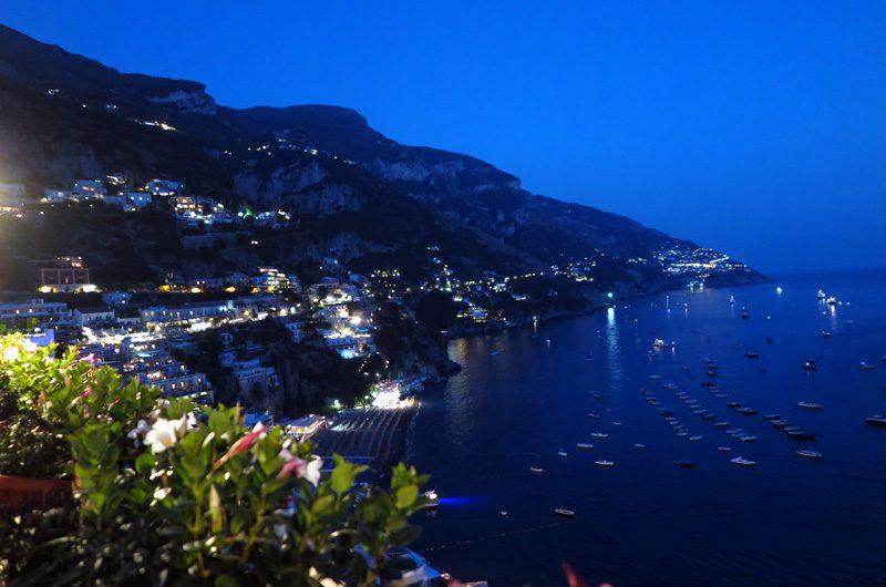 Abendliche Positano-Romantik.