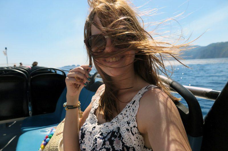 Mit der Fähre geht es von Positano weiter nach Capri.