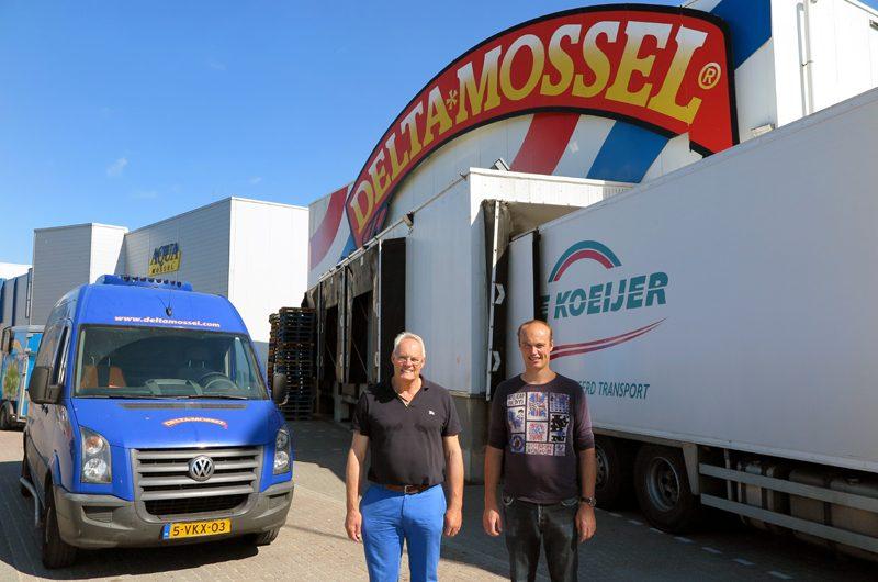 Delta Mossel Geschäftsführer Wim van de Plasse mit seinem Sohn.